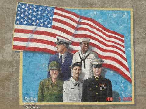 Mural Painting - Memorial Mural by Angela Baggett