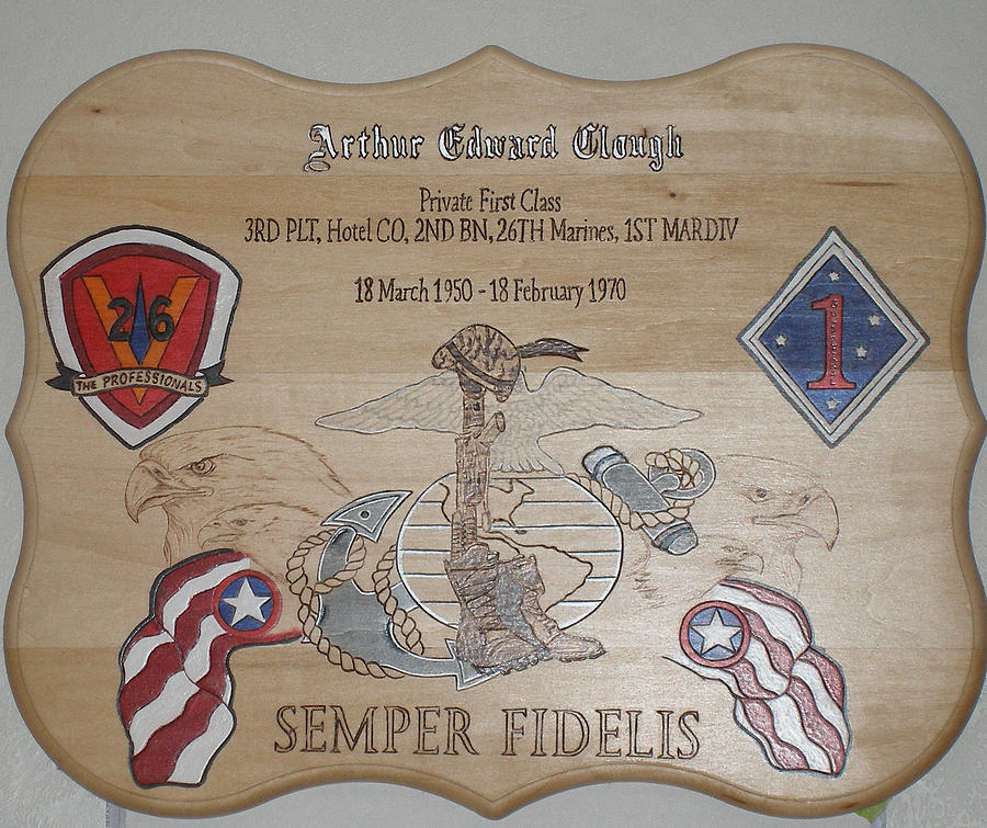 Memorial Plaque Pyrography by Ramon Greene