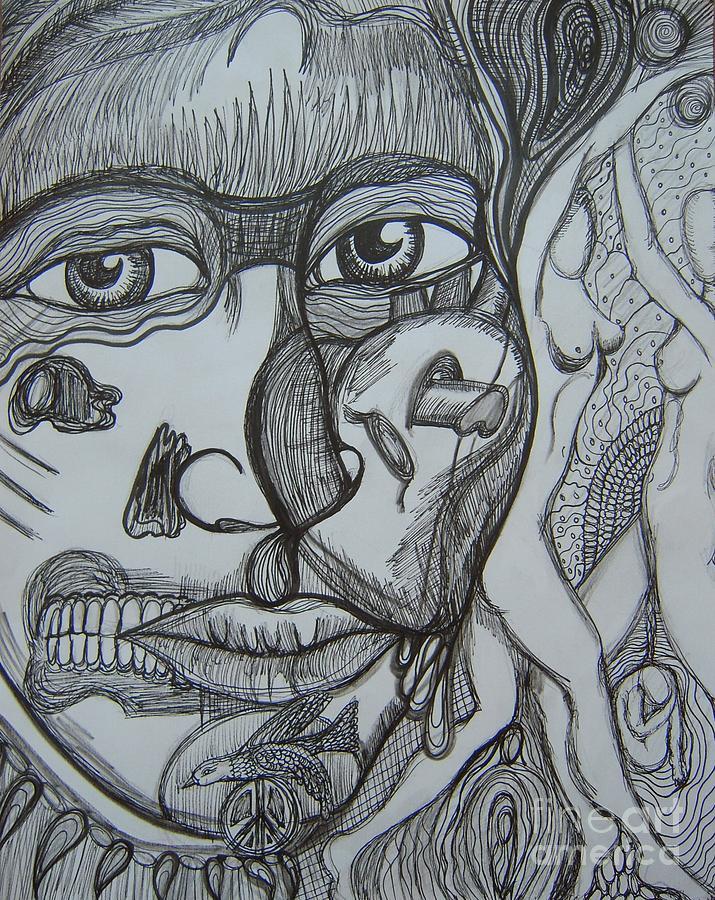 Fantasy Drawing - Memories by Anita Wexler