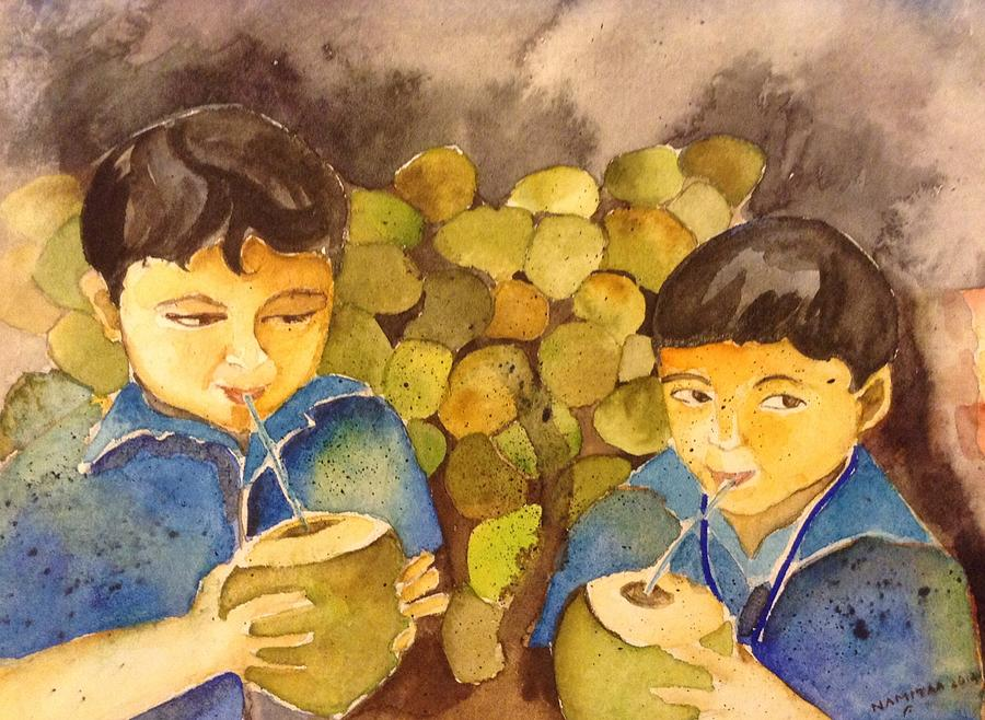 Friends Painting - Memories by Namitaa Pradeep