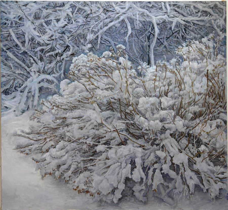 Winter Landscape Painting - Memories Of Childhood by James Sparks
