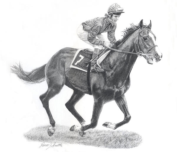 Shergar Drawing - Memories Of Greatness by Laura Smith