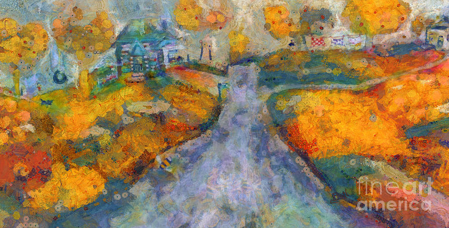 Home Painting - Memories Of Home In Autumn by Claire Bull