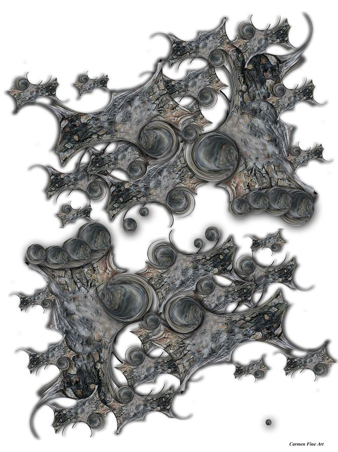 Abstract Digital Art - Memories of Silent Creation by Carmen Fine Art
