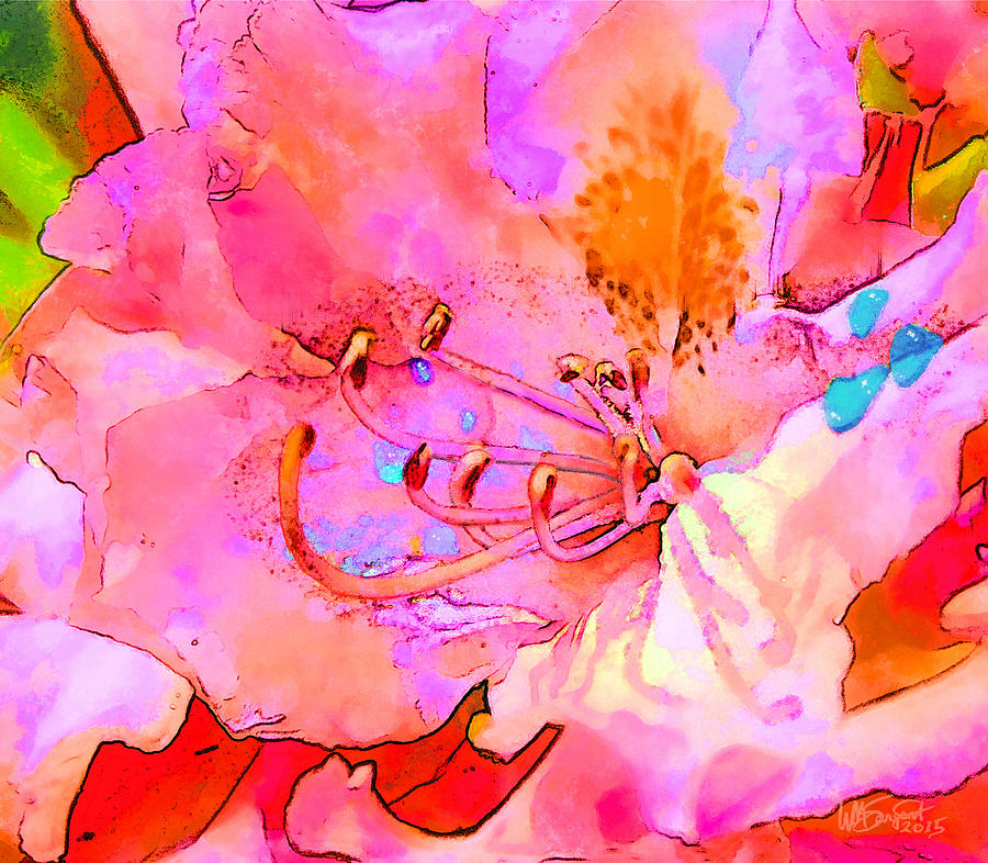 Flower Digital Art - Memories Of Spring by William Sargent
