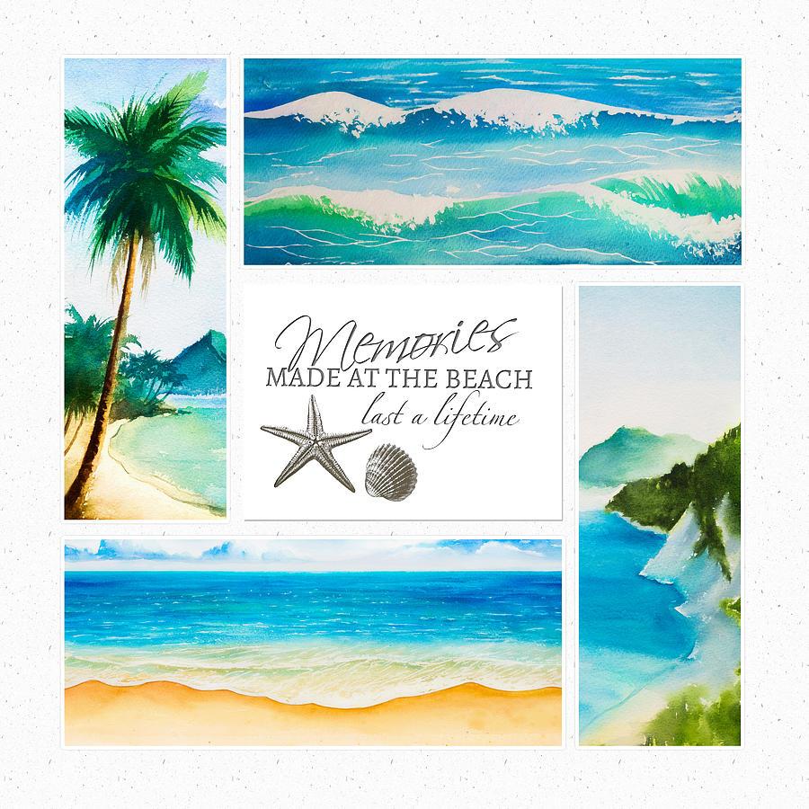 Design Mixed Media - Summer Vacation by Amanda Lakey