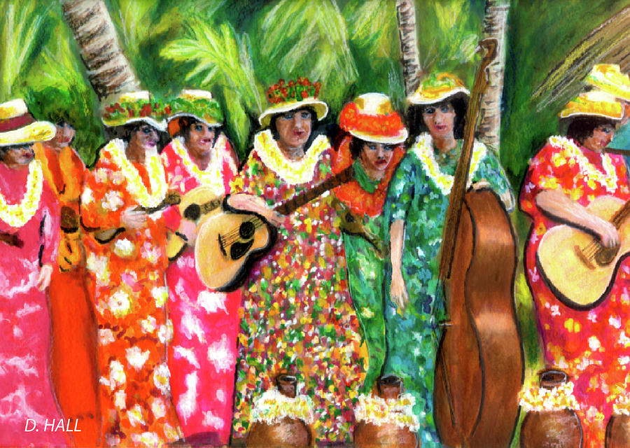 Hawaiiana Painting - Memories Of The Kodak Hula Show At Kapiolani Park In Honolulu #20 by Donald k Hall