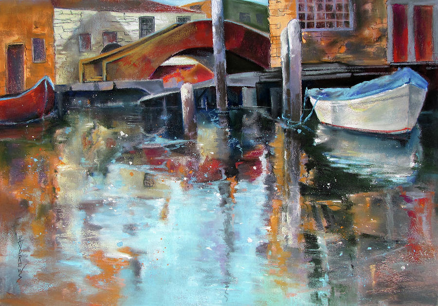 Waterscape Painting - Memories Of Venice by Rae Andrews