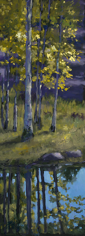Aspen Trees Painting - Memories of Vienstenz-Smith Mountain Park by Billie Colson