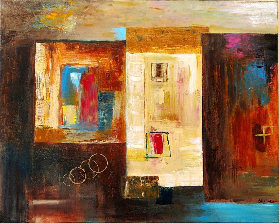 Abstract Painting - Memories  by Rita  Ibrahim