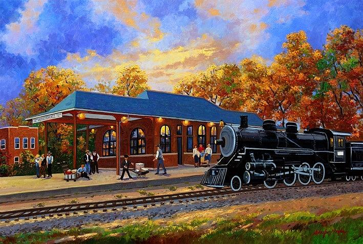 Memories, Train Depot Whitehall WI by Kevin Wendy Schaefer Miles