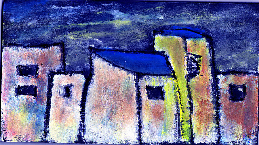 City Scape Painting - Memories by Wayne Potrafka