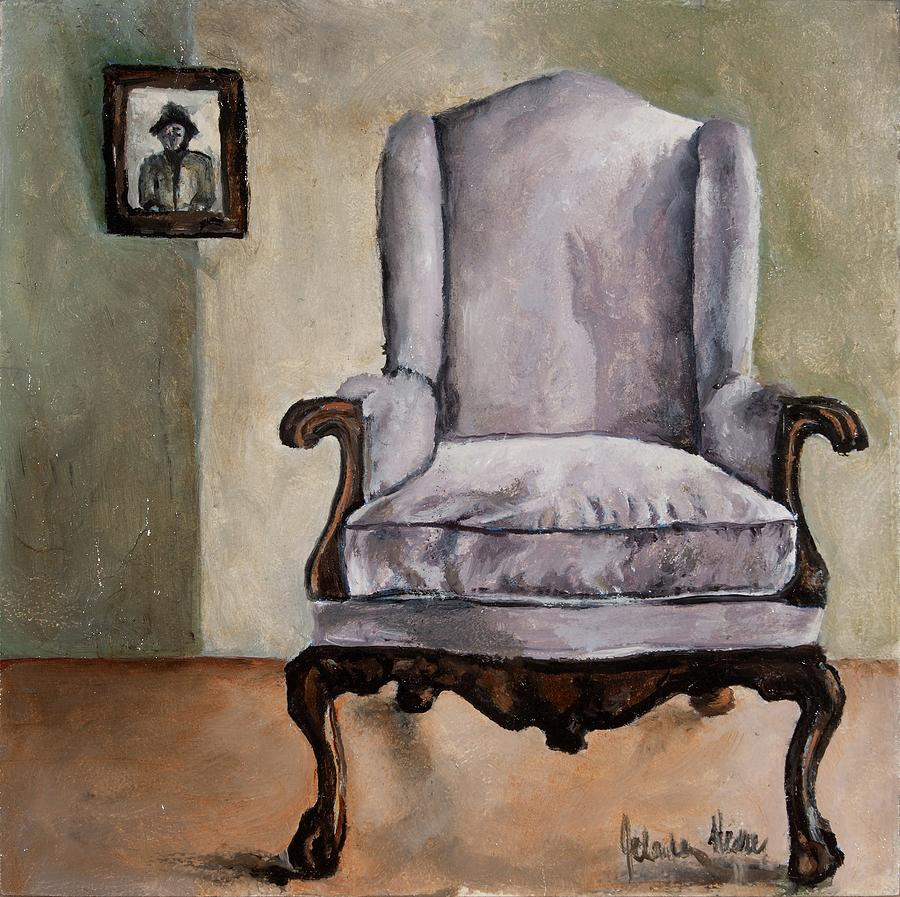 Chair Painting - Memory Chair by Jolante Hesse