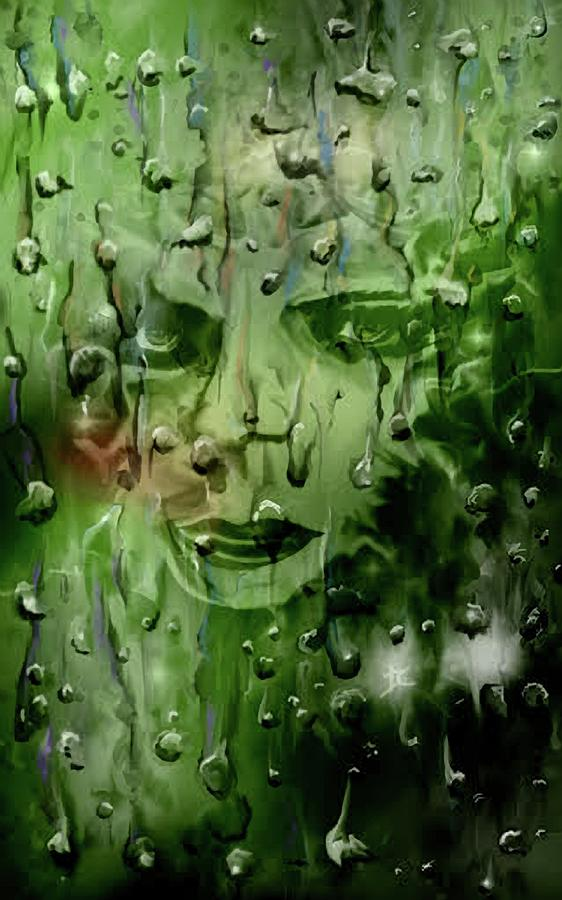 Rain Digital Art - Memory In The Rain by Darren Cannell