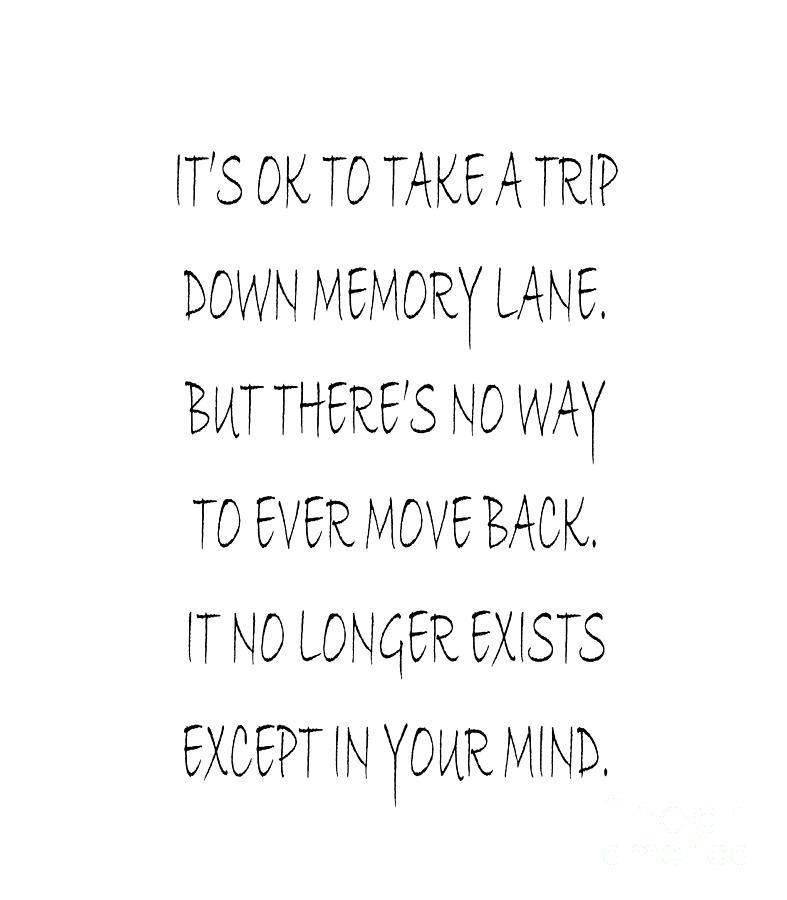 Memory Lane Poem Digital Art by Andee Design