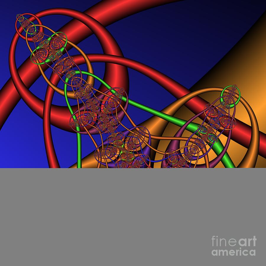 Abstract Digital Art - Memory Loops 137 by Rolf Bertram