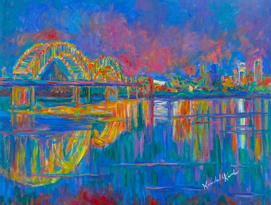 Memphis Painting - Memphis Lights by Kendall Kessler