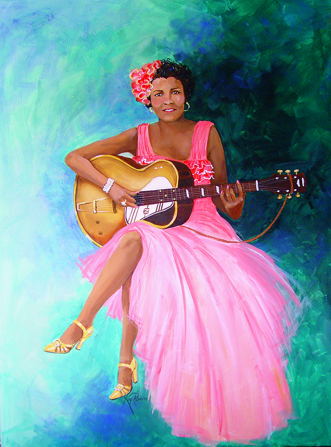 Blues Singers Painting - Memphis Minnie by Kay Robinson