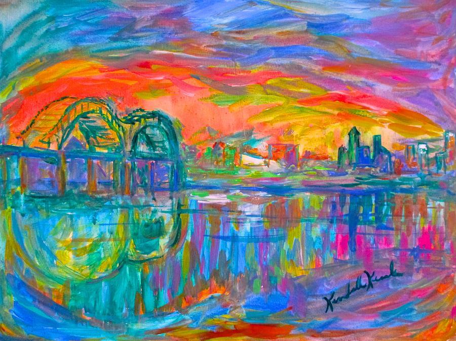 Memphis Painting - Memphis Spin by Kendall Kessler