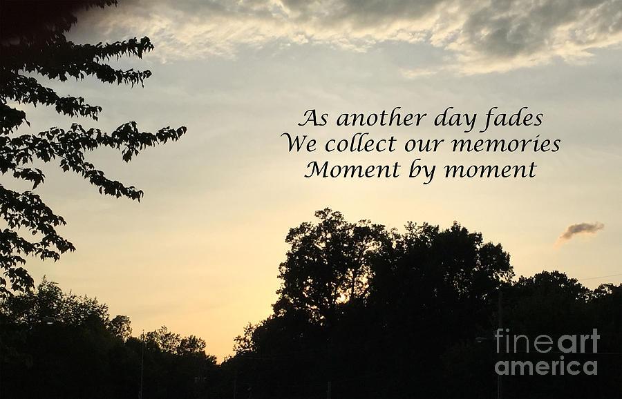Memphis Photograph - Memphis Sunset Haiku by Leona Atkinson