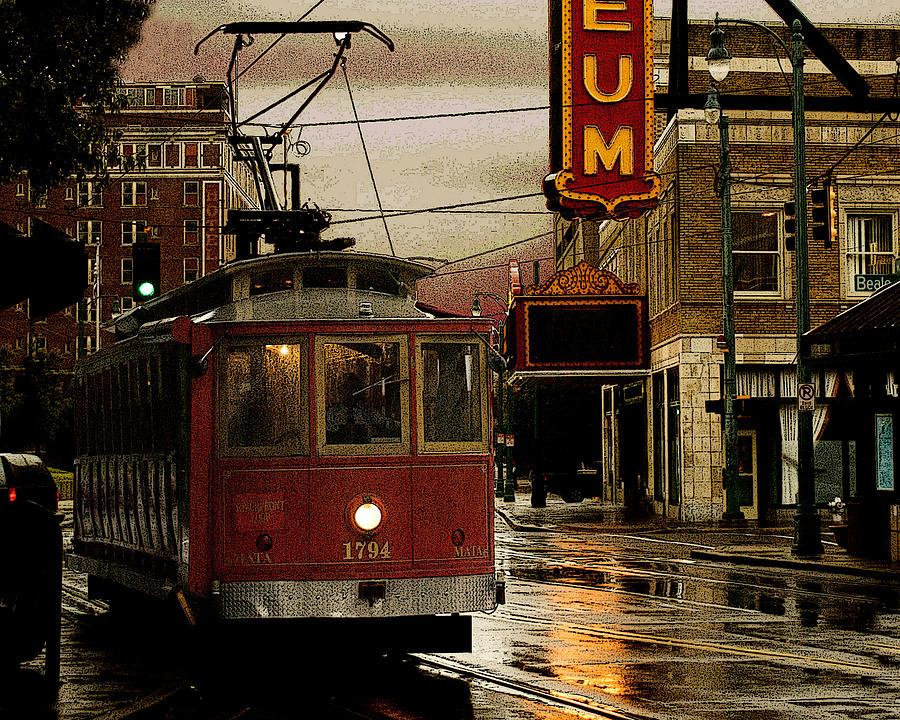 Memphis Photograph - Memphis Tennissee Streetcar by Don Wolf
