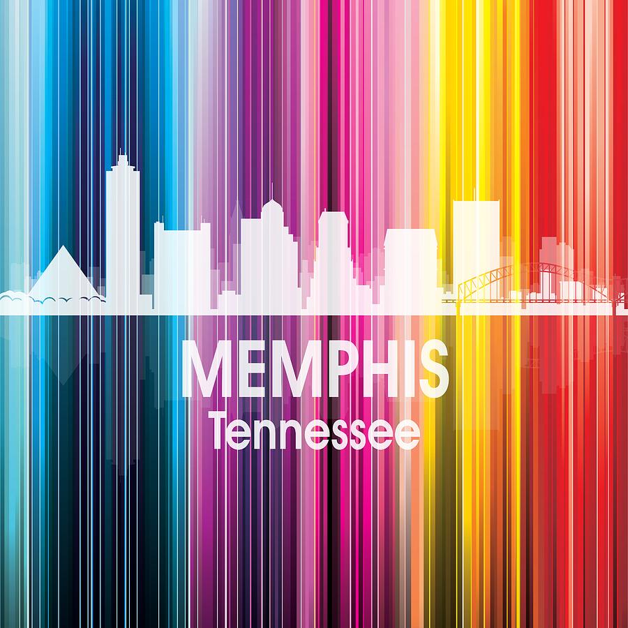 Memphis Digital Art - Memphis Tn 2 Squared by Angelina Tamez