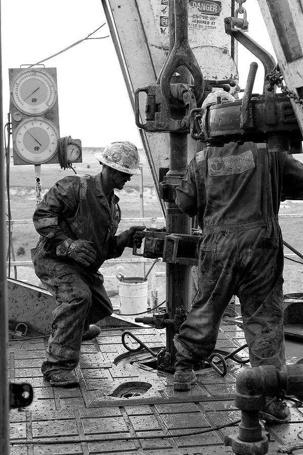 Rig Photograph - Men At Work by Jason Drake