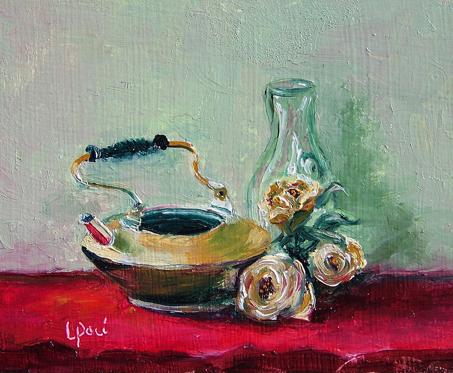Still Life Painting - Menage A Trois by Laurie Paci
