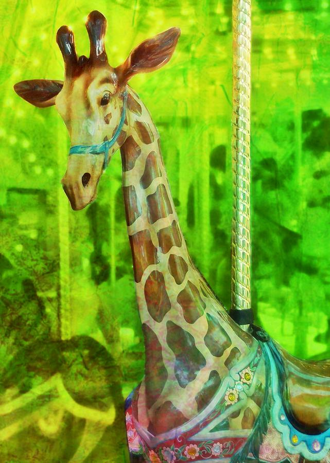 Giraffe Photograph - Menagerie by JAMART Photography