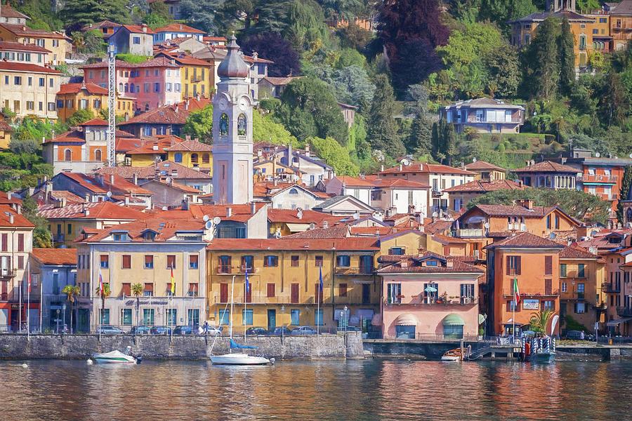 Menaggio Lake Como Italy Painterly Photograph
