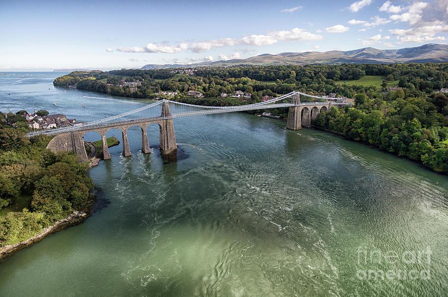 Menai Photograph - Menai Bridge 2 by Steev Stamford