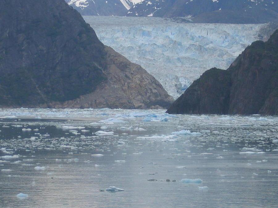 Mendenhall Glacier  Alaska Digital Art by Barb Morton