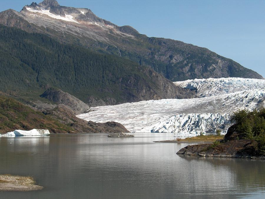 Mendenhall Photograph - Mendenhall Glacier Alaska by Janet  Hall