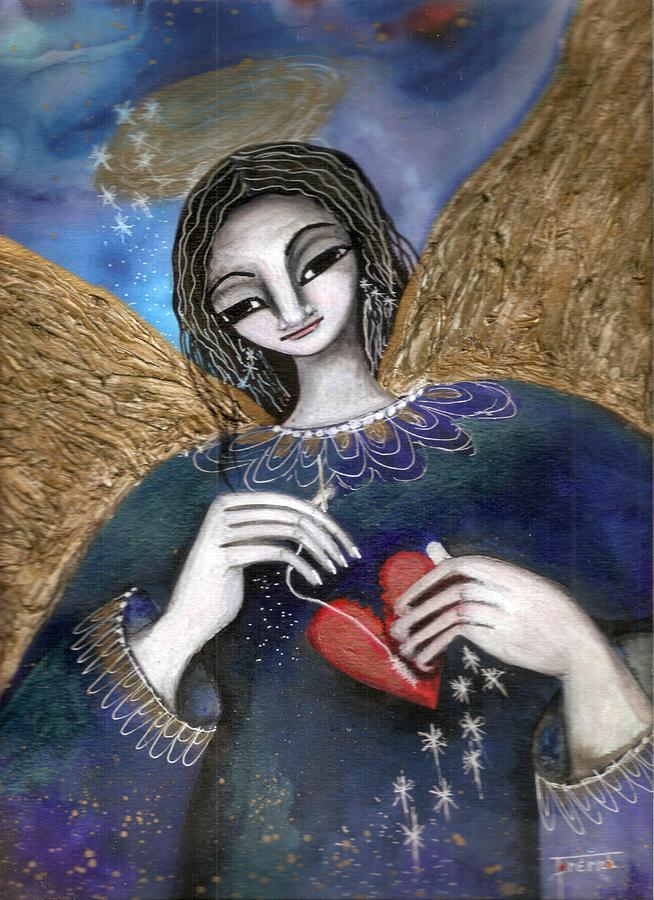 Angel Mixed Media - Mender Of Hearts Angel by Prerna Poojara