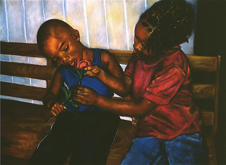 Curtis E. James Pastel - Mending Hearts by Curtis James