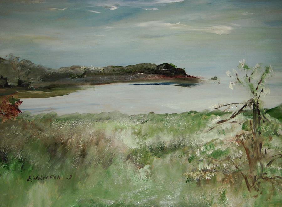 Seascape Painting - Mendocino Coastline by Edward Wolverton