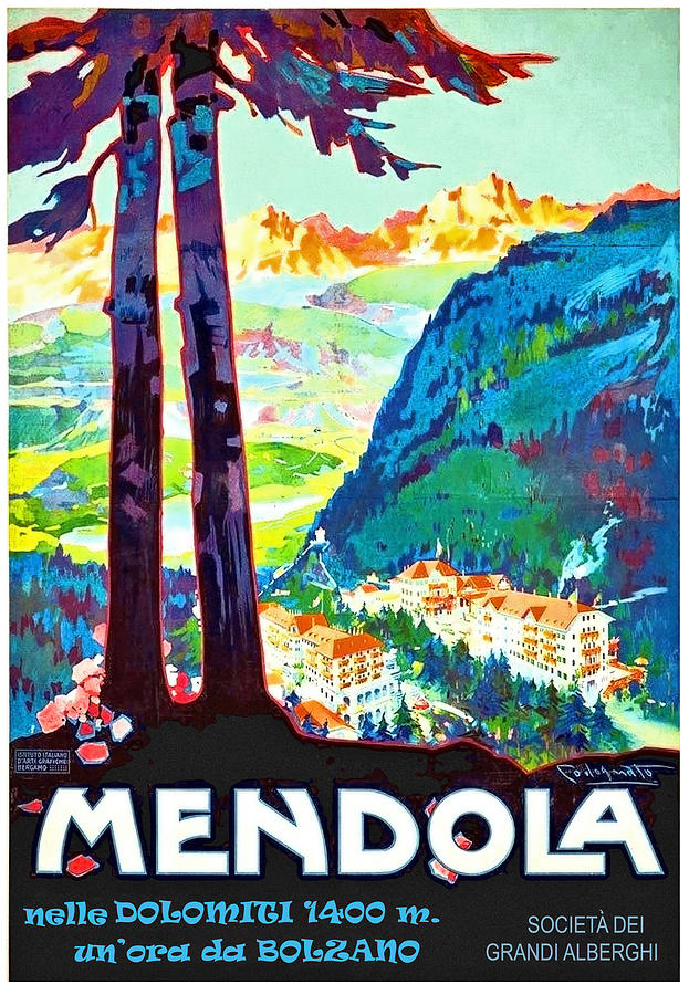 Italy Painting - Mendola, Italy, Landscape by Long Shot