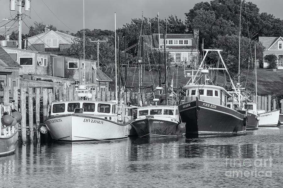 America Photograph - Menemsha Fishing Boats Xvi by Clarence Holmes