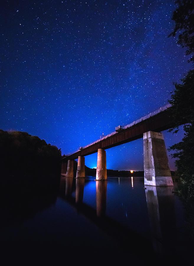 Milky Way Photograph - Menesetung Bridge by Cale Best