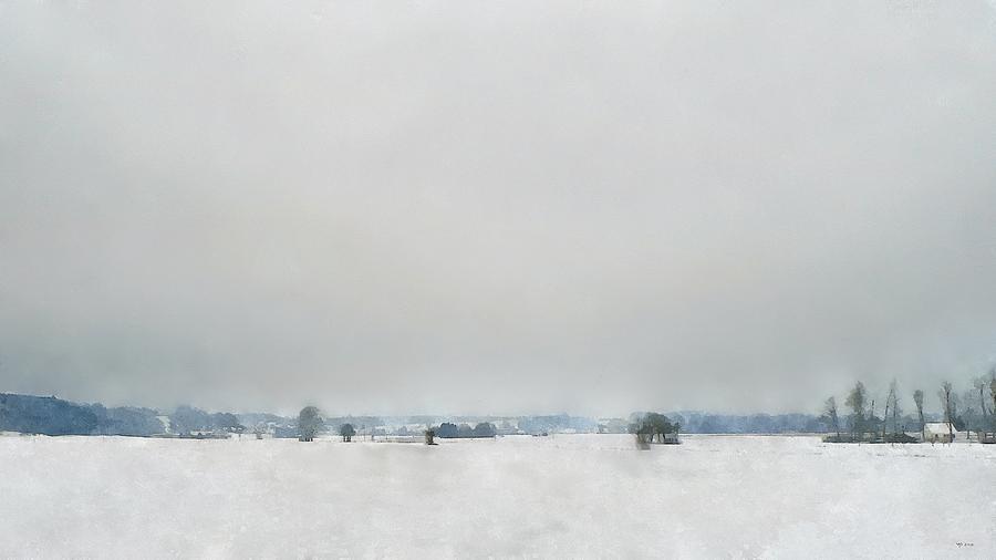 Winter Digital Art - Mengen, Lehmgrube by Wolfgang Schweizer