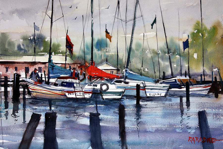 Boat Painting - Menominee Marina by Ryan Radke