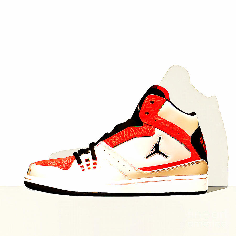 1813ad91598296 Mens Air Jordan High Tops 20160227 Square Photograph by ...