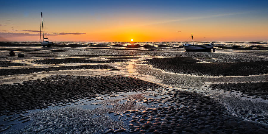 England Photograph - Meols Sunset by Peter OReilly