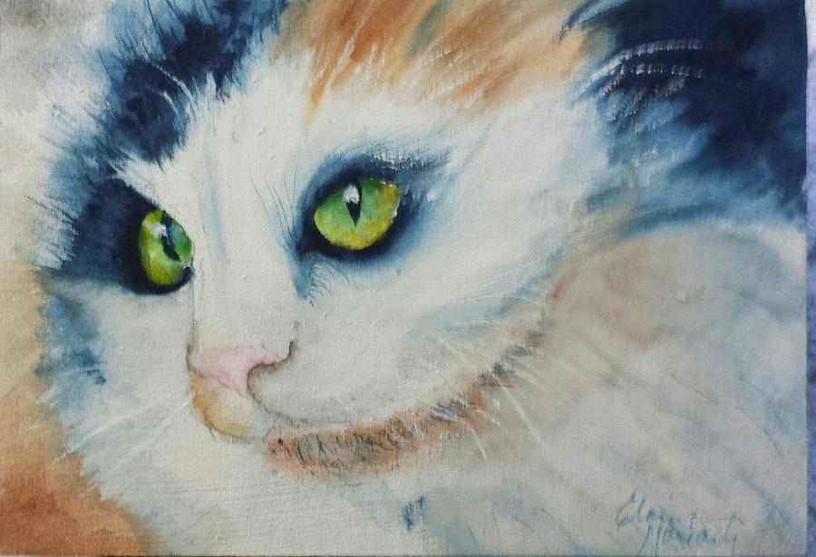 Animals Painting - Meow II by Elaine Frances Moriarty
