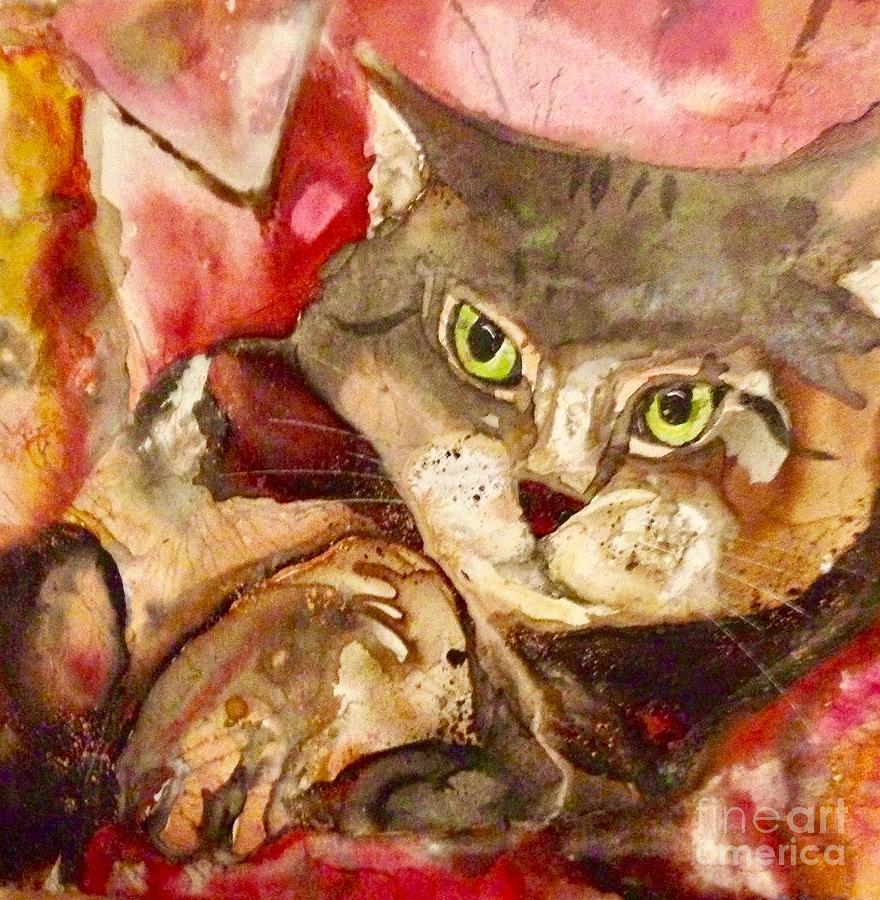 Meow Painting by Kasha Ritter