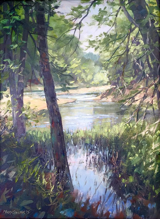 Landscape Painting - Meramec Shade by Marty Coulter