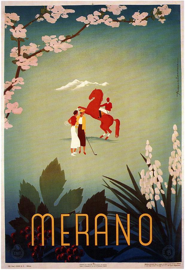 Merano Mixed Media - Merano - Italy - Retro travel Poster - Vintage Poster by Studio Grafiikka