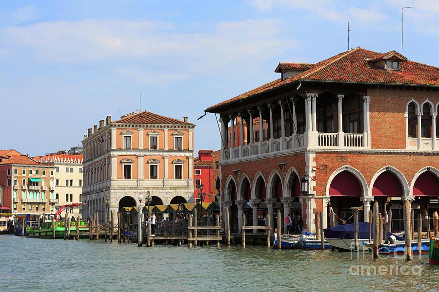 Fish Market Photograph - Mercato Di Rialto In Venice Italy by Louise Heusinkveld