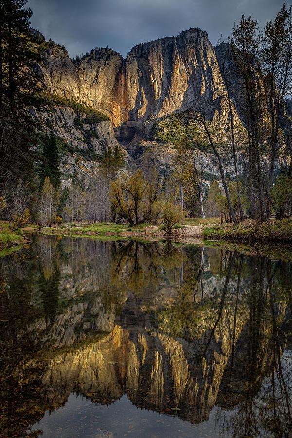 Yosemite Photograph - Merced River Morning Light Reflection by Jeff Sullivan
