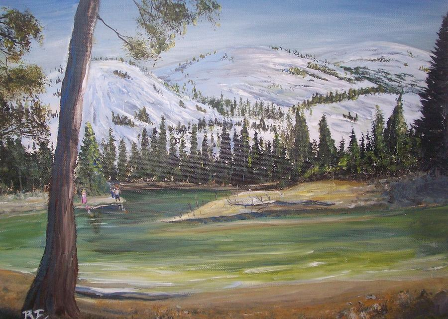 Merced River Painting by Richard Finnell